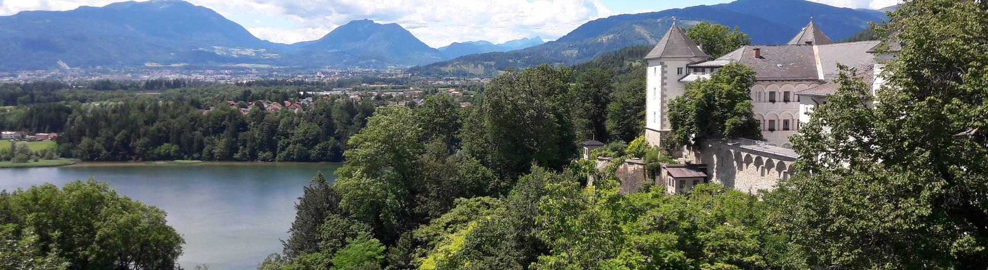 <p>Burgen und Schlösser in Kärnten, Kloster Wernberg Drauschleife</p>