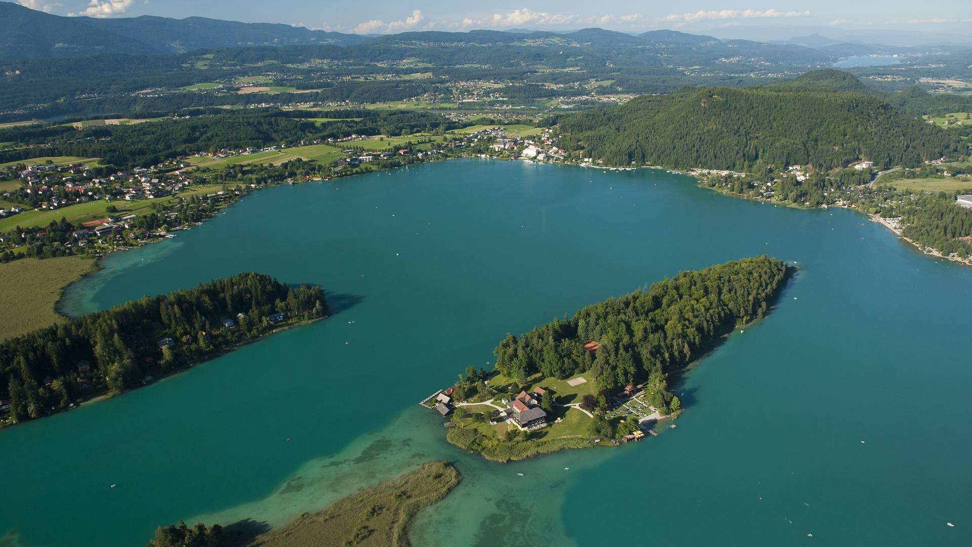 Blick auf den Faaker See
