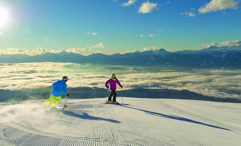 Skifahren auf der Gerlitzen in der Region Villach