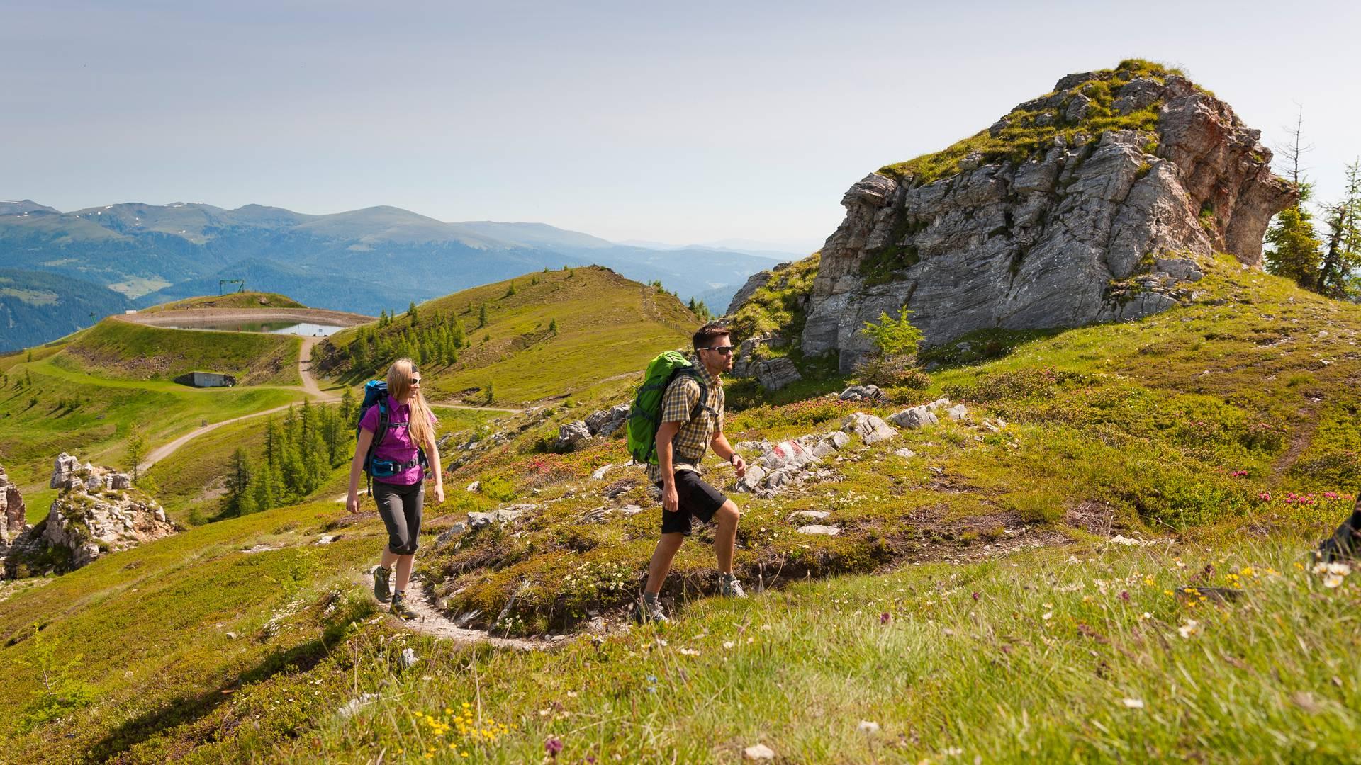 <p>Alpe Adria Trail, in den Nockbergen</p>