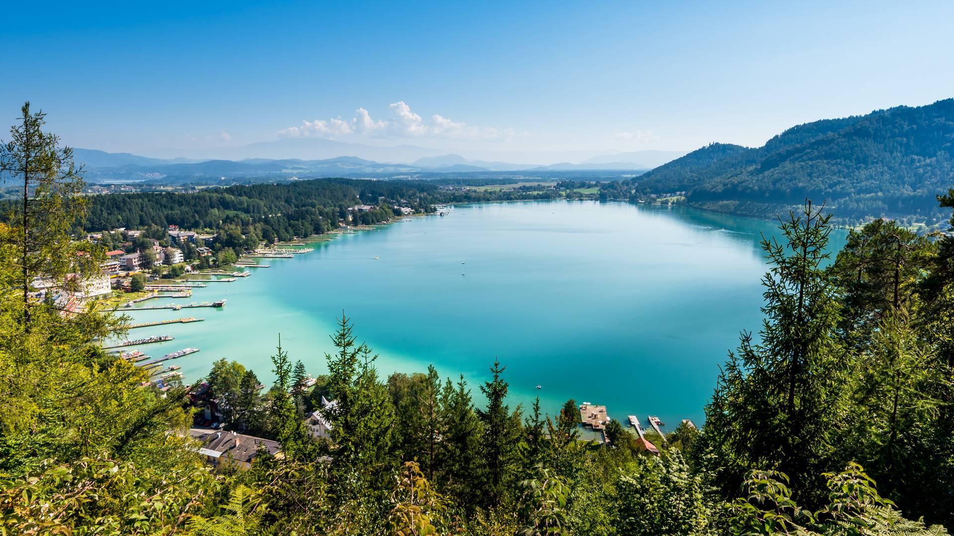 Blick über den Klopeiner See in Kärnten