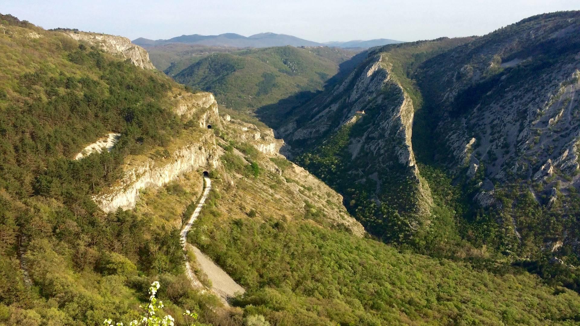 Ausblick auf das Val Rosandra