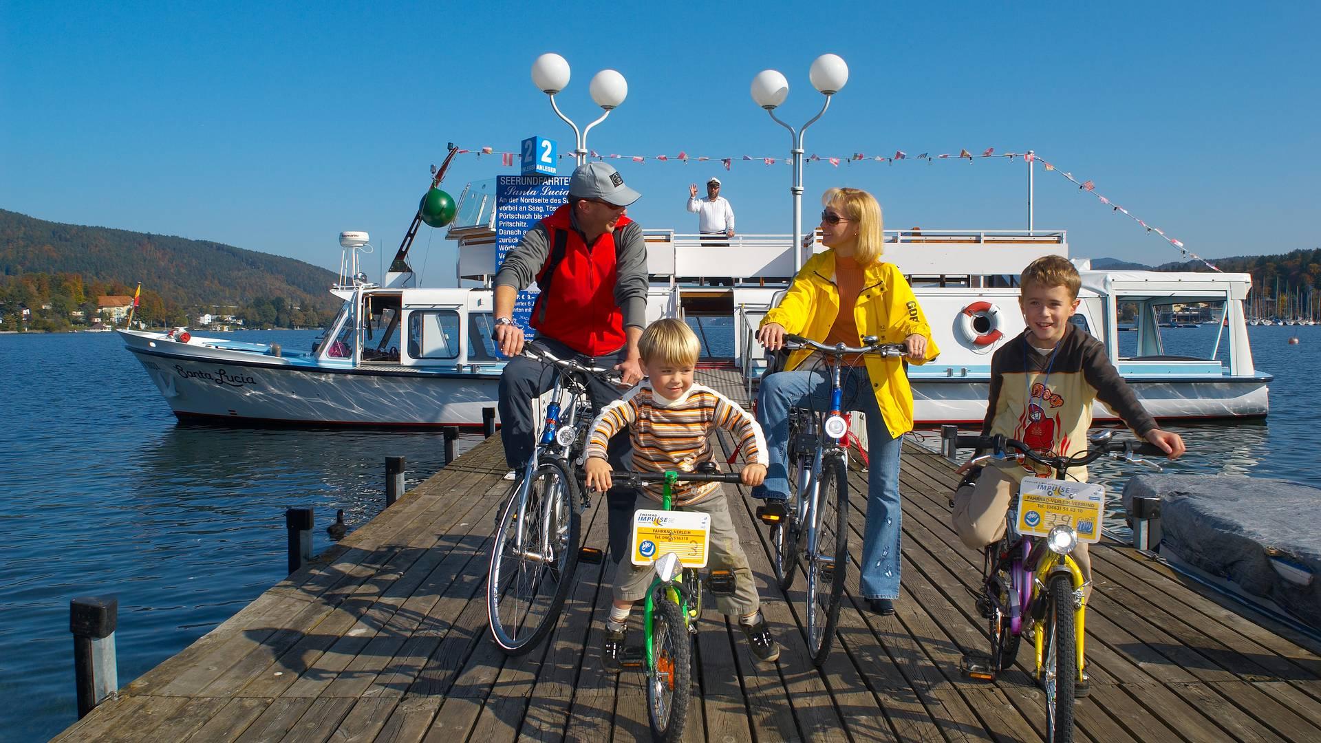 Woerthersee Familienradfahren