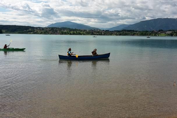 Mit dem Kajak am Faaker See unterwegs