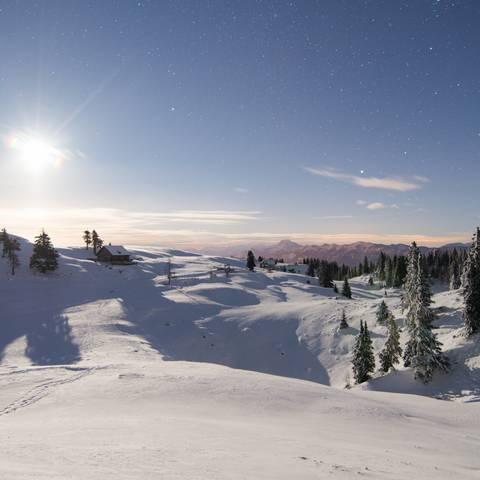 Winterlandschaft am Dobratsch