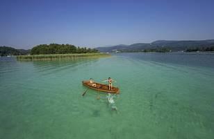 Wörthersee - Sprung in den See - Ruderboot