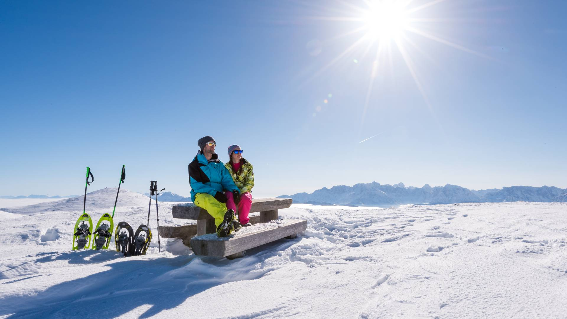 <p>Naturpark Dobratsch, Schneeschuhwandern</p>