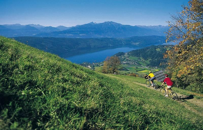 Mountainbiken am Millstätter See