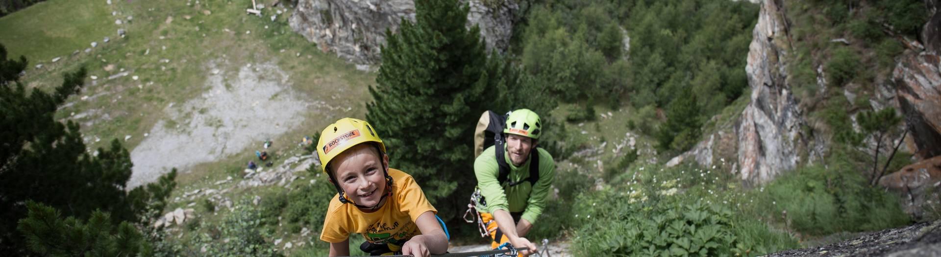<p>Klettern im Maltatal</p>