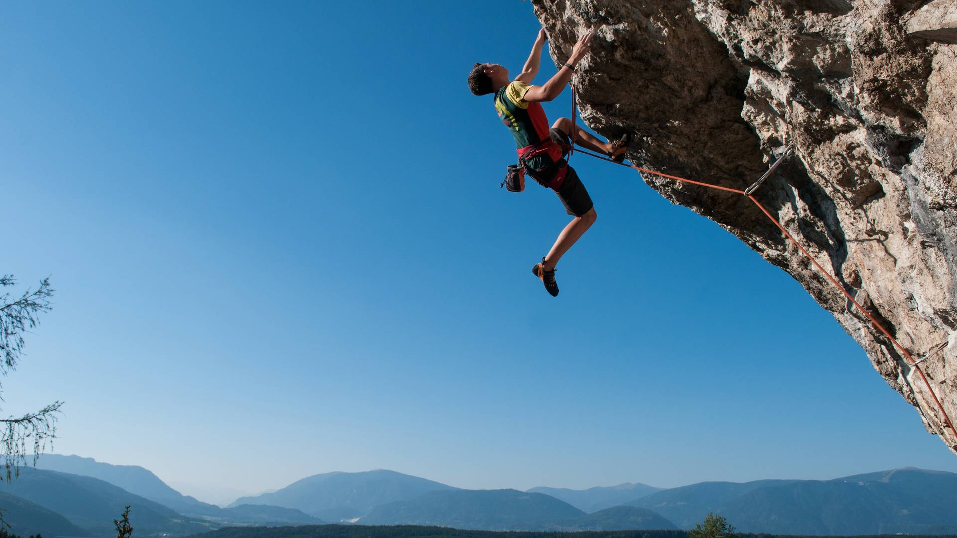<p>Klettern am Kanzianiberg</p>