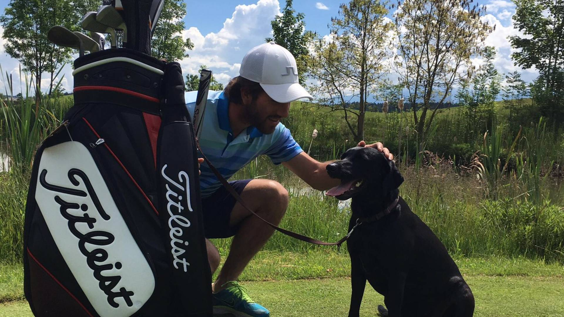 Golfen mit Hund