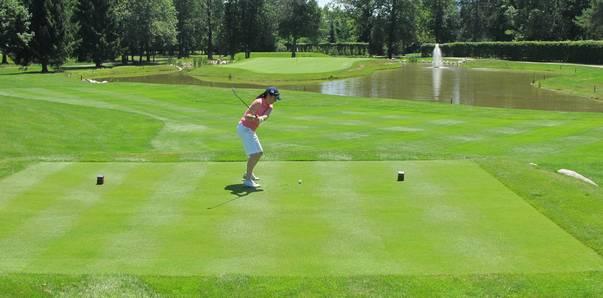 Golfen in drei Ländern. Royal Bled Golf Course in Slowenien