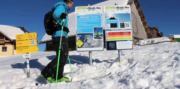 Skitourenlehrpfad am Falkert