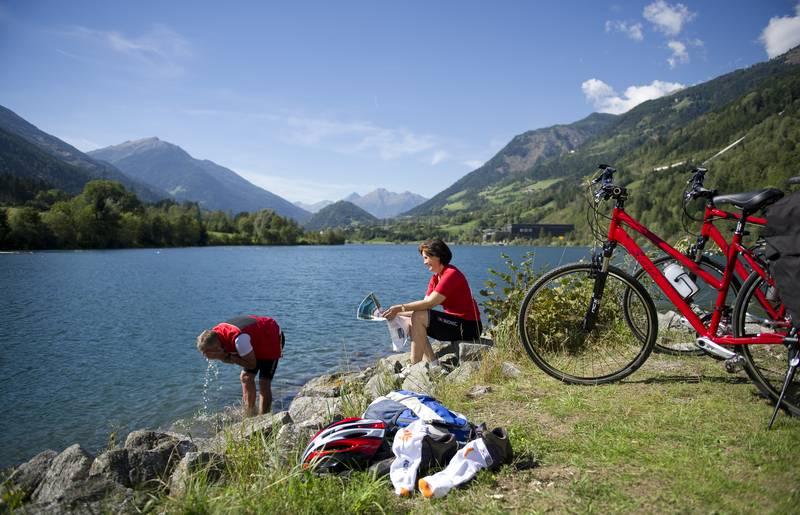 Entspannung nach dem Radfahren