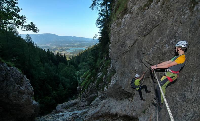 <p>Klettern in Kärnten, Rotschitza Klamm</p>