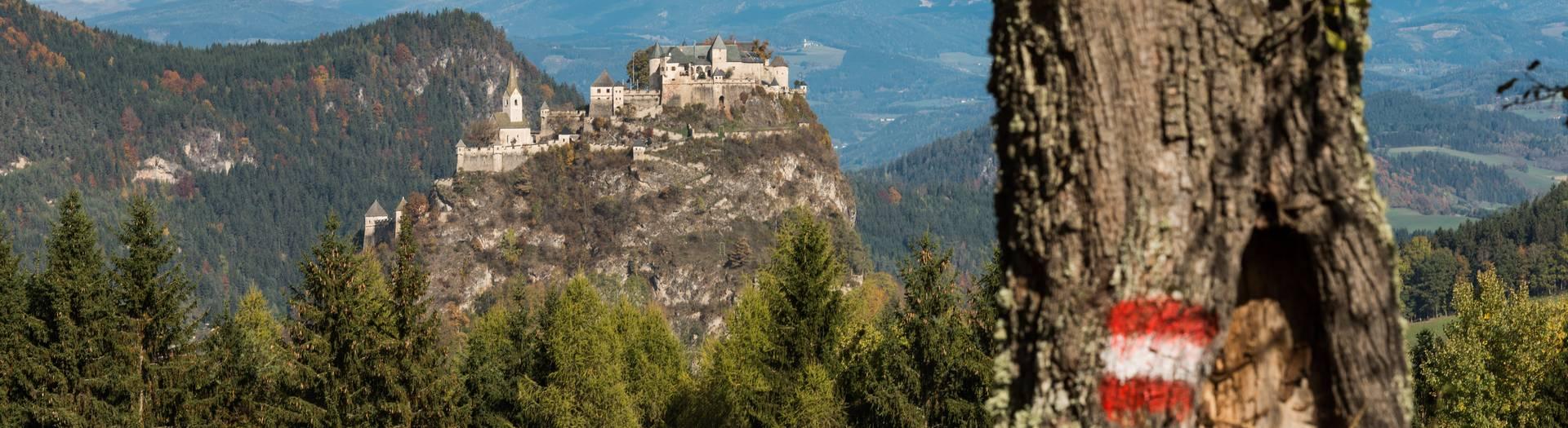 Blick auf die Burg Hochosterwitz in der Region Mittelkärnten