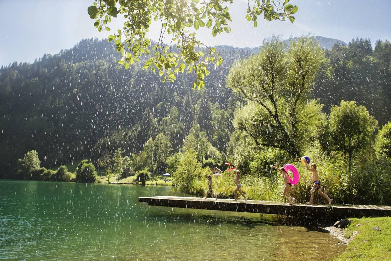 Sommerregen Badespass