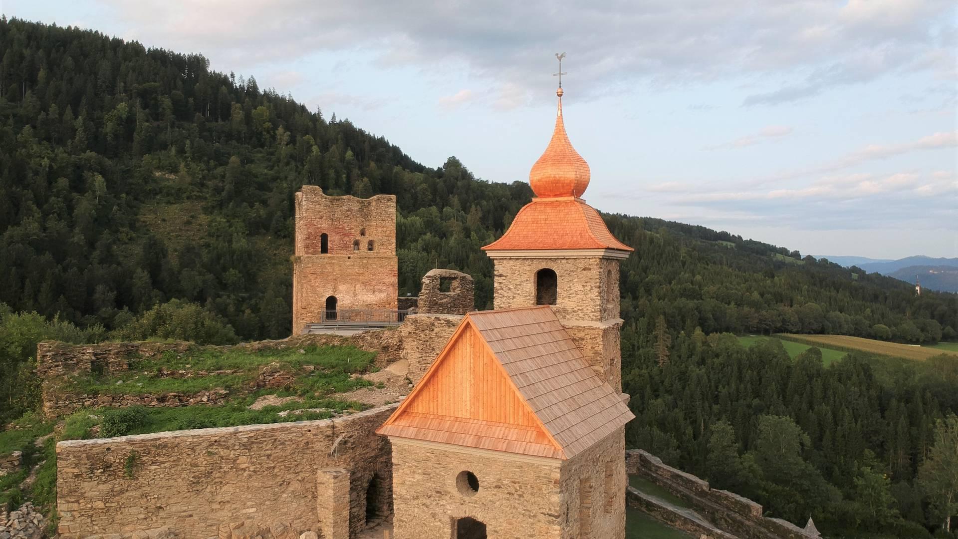 <p>Burgen und Schlösser in Kärnten, Burgruine Glanegg</p>