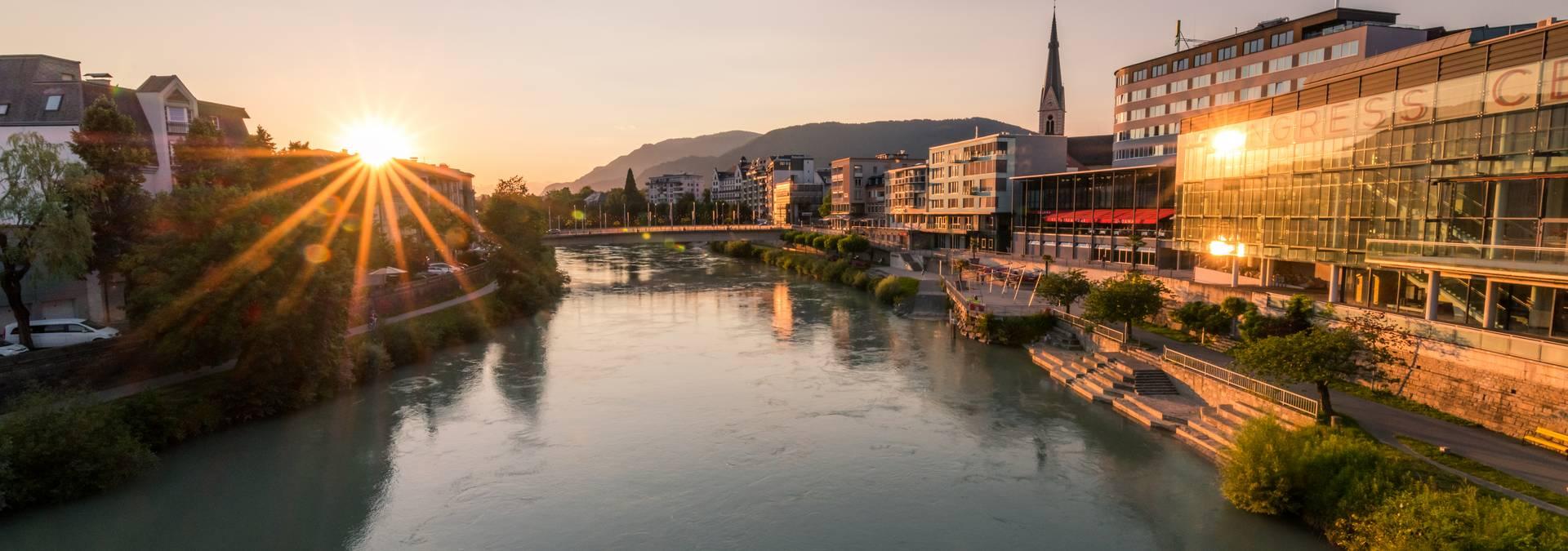 Sonnenuntergang in Villach
