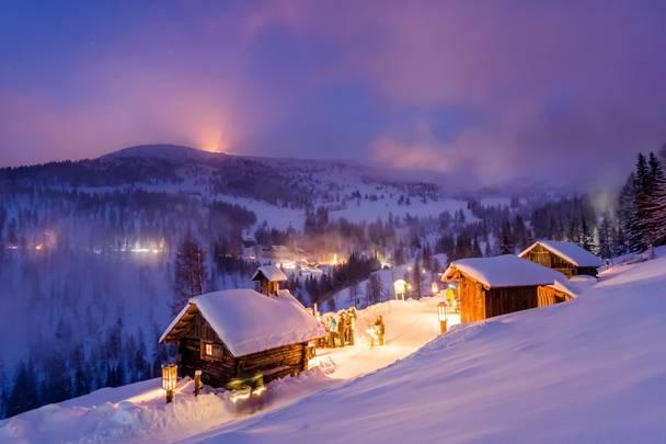 Katschberg_Adventweg bei Nacht