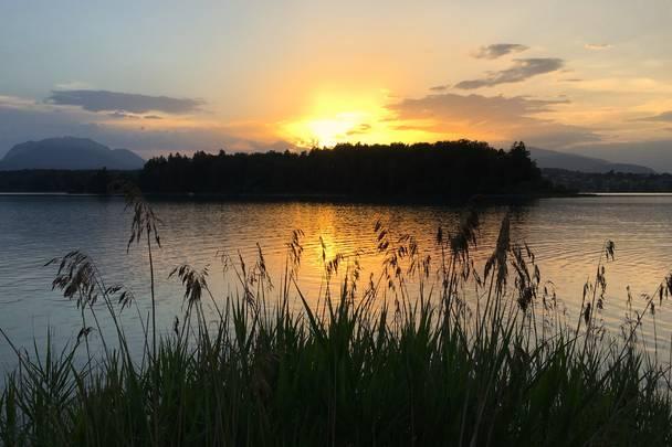 c Heiko Mueller am Faaker See Sonnenuntergang