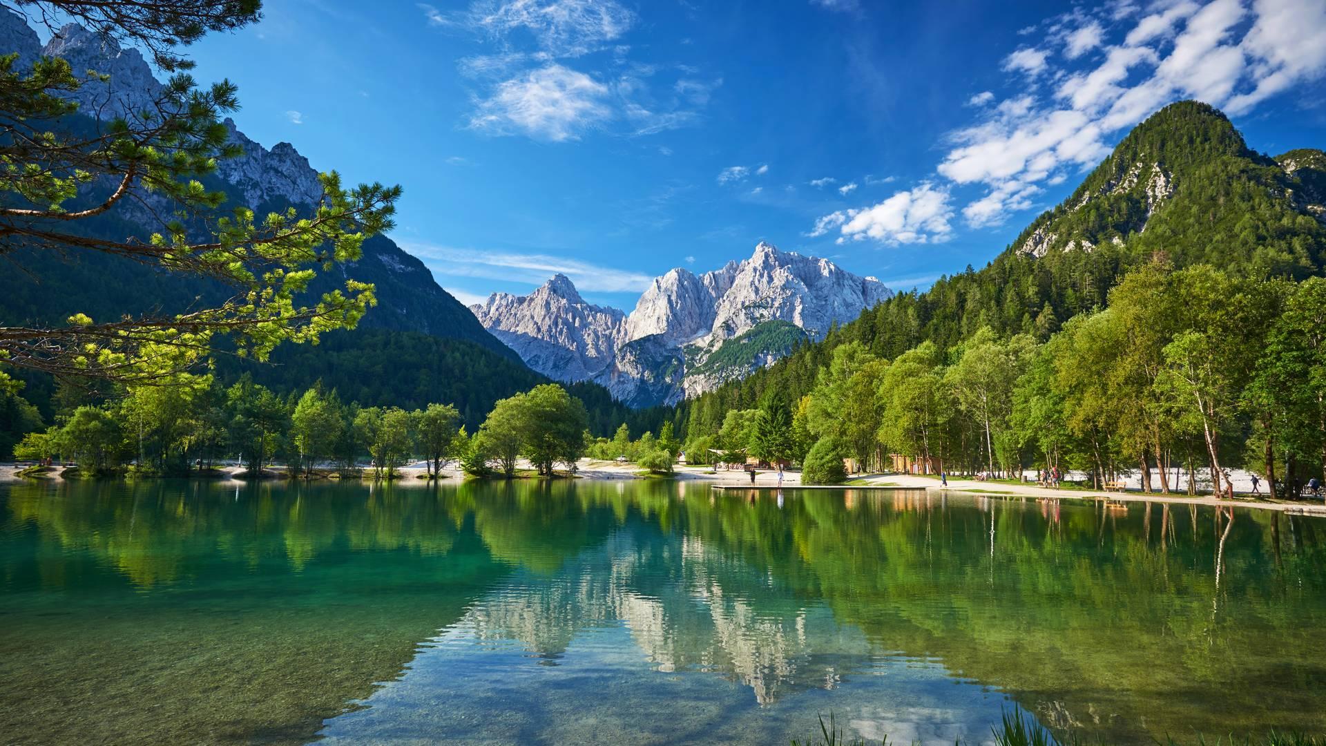 Alpe-Adria-Trail Jezero Jasna Tomo Jesenicnik