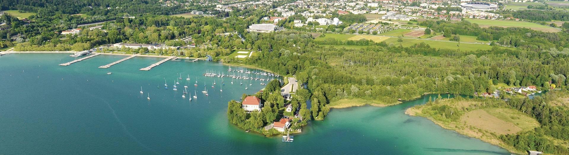 Klagenfurt Luftaufnahme quer