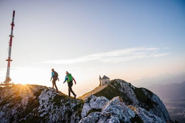 Wandern am Dobratsch Gipfel