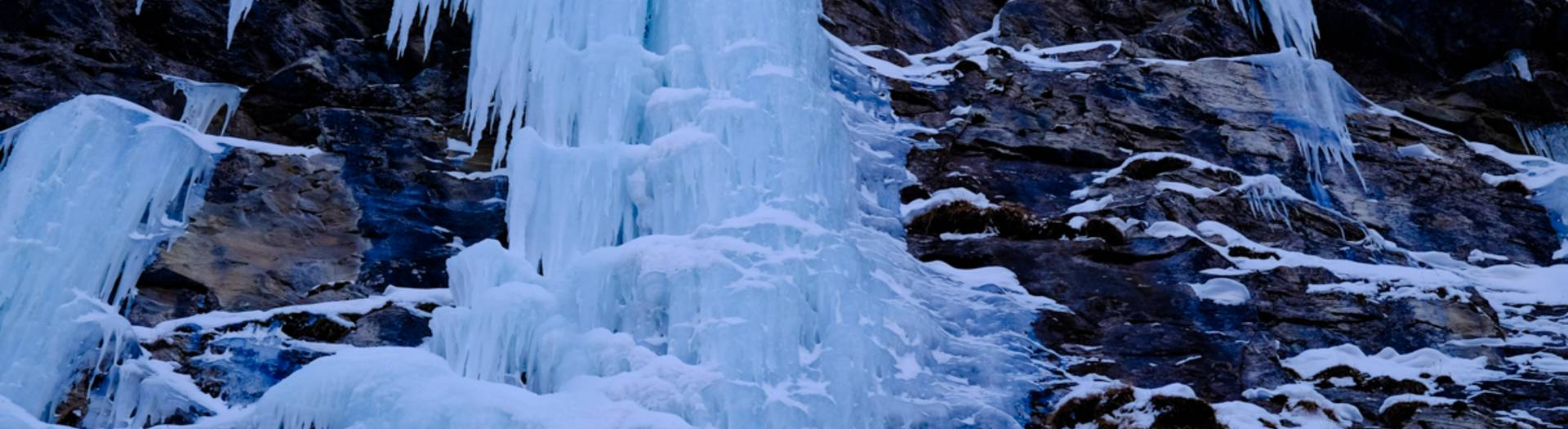 Eisfaelle im Fleisstal