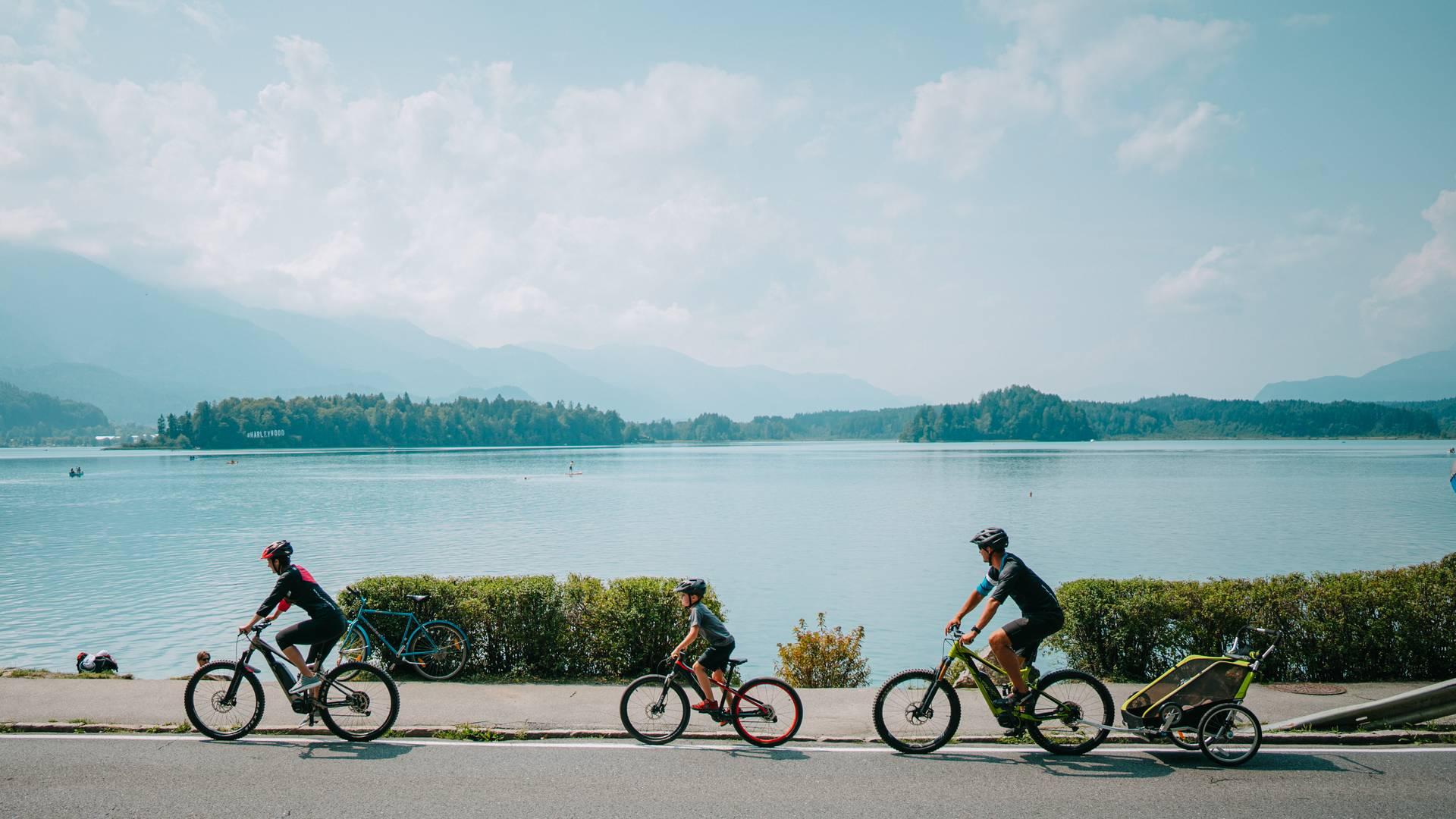 E Bike Faaker See Familie