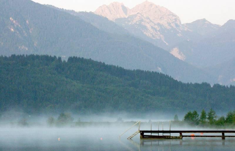 Nebelschwaden am Pressegger See