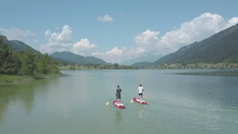 Stand Up Paddling am Weissensee mit Luca