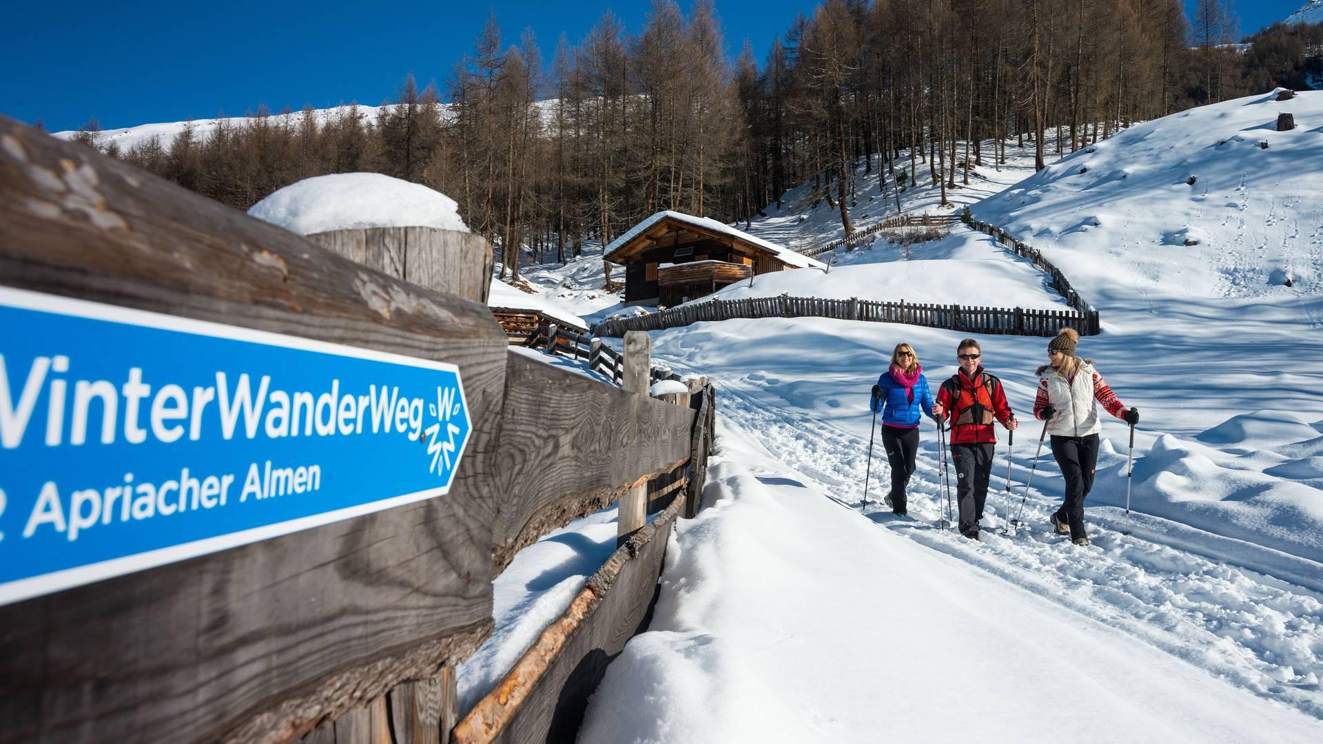 Winterwandern in Apriach