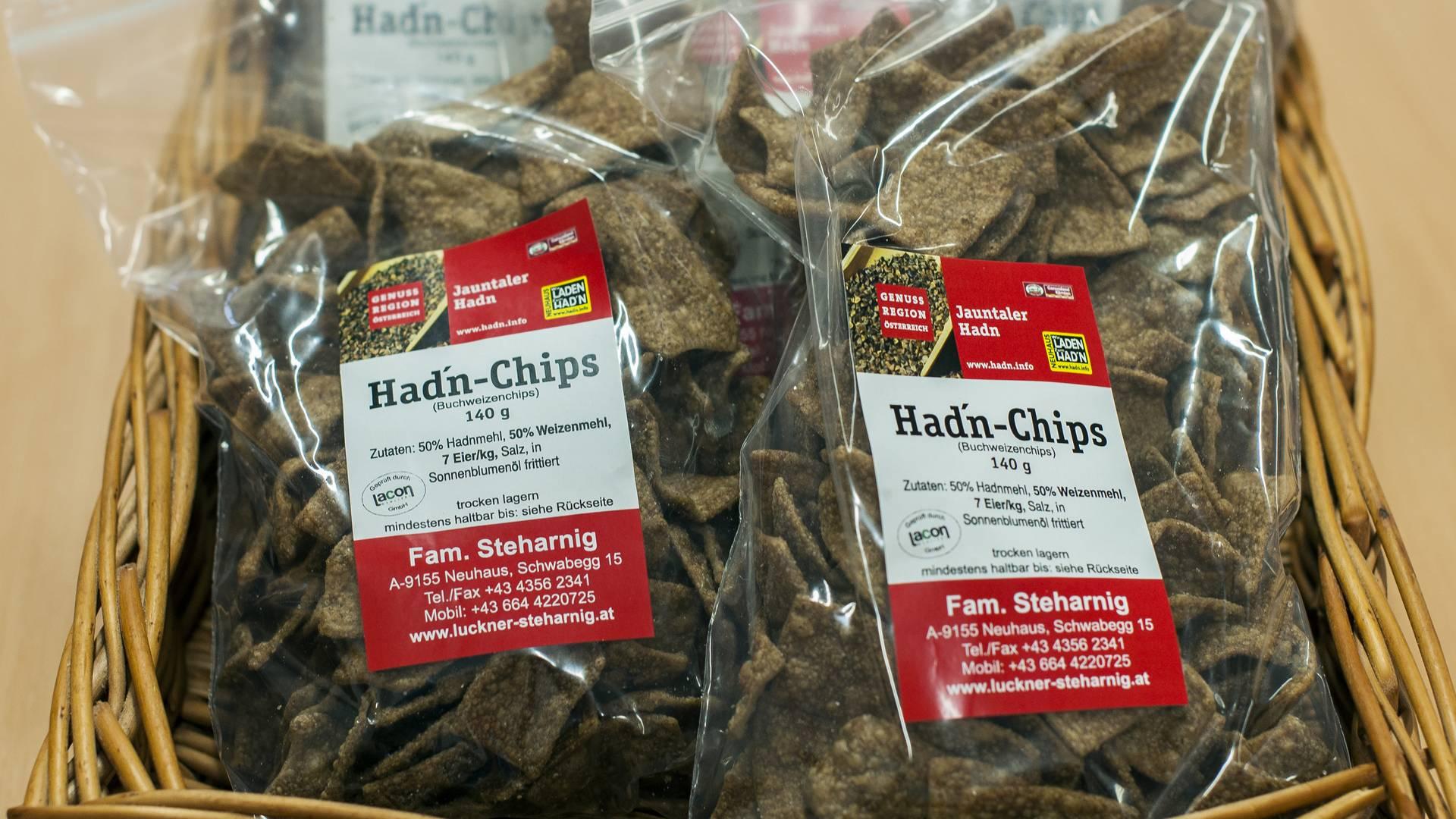 Hadn-Chips zum Knabbern