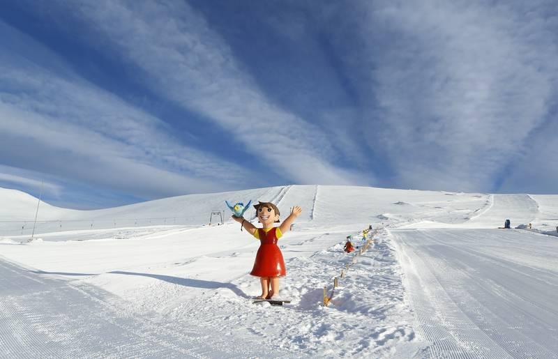 Region Nockberge_Heidi im Skigebiet