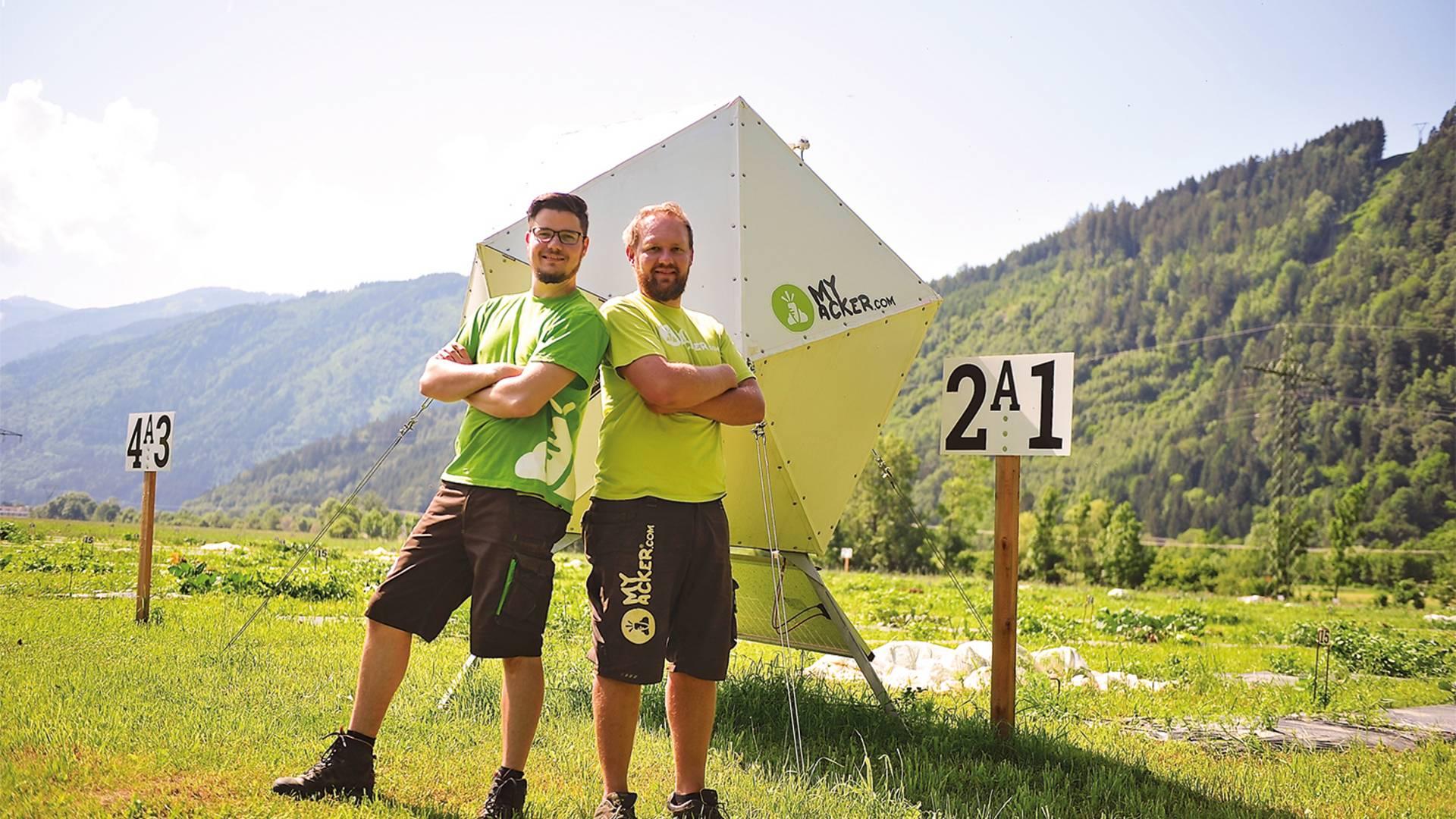 myAcker.com die Gründer Christoph und Patrick