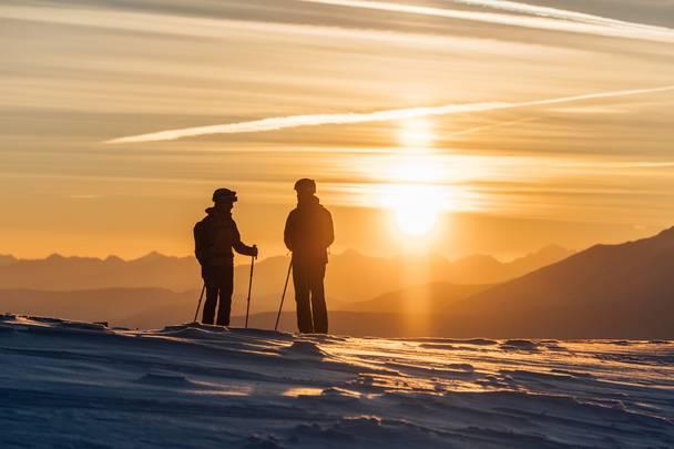 Sonnenuntergang am Nockberge Trail