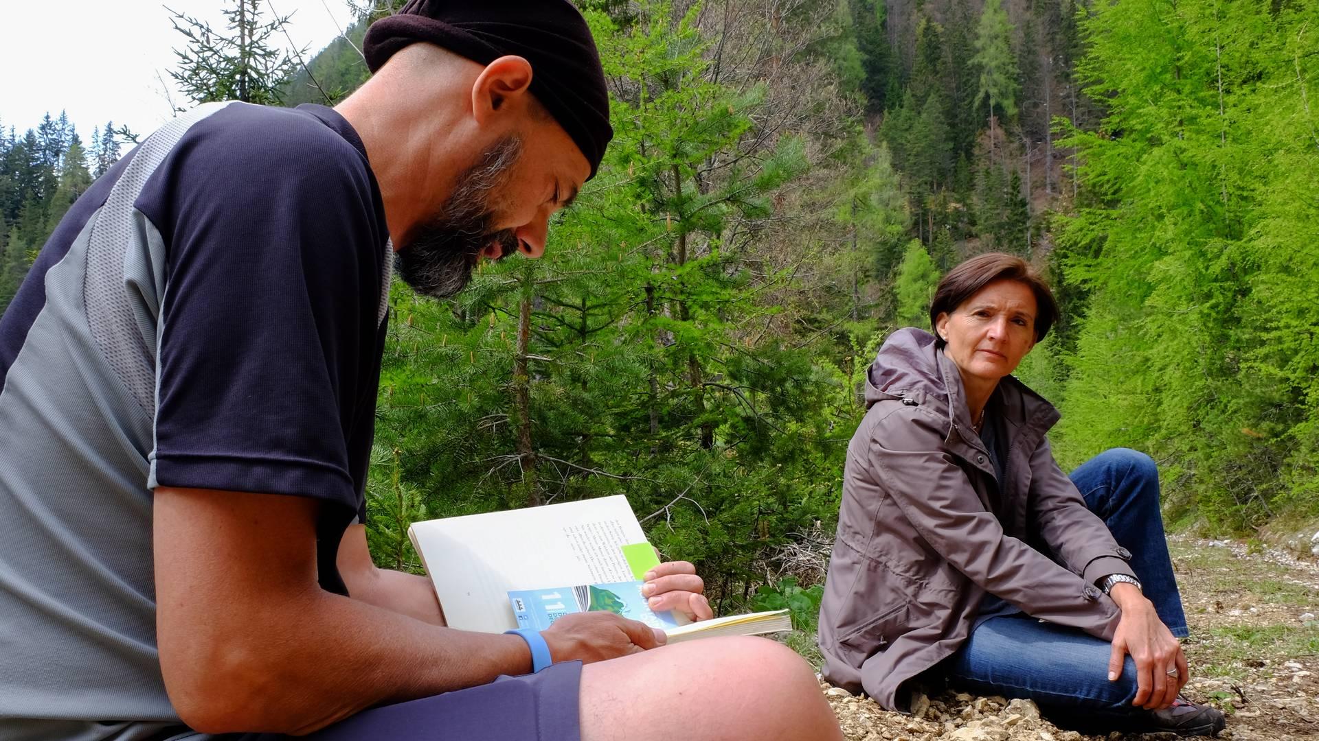 Gemeinsames Lesen verbindet Literarische Wanderung Bad Eisenkappel