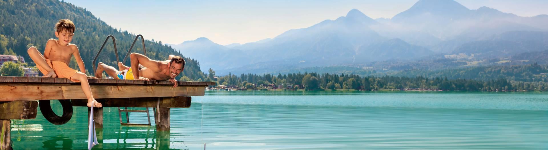 Badespass Faaker See Region Villach c Kaernten Werbung Martin Steinthaler