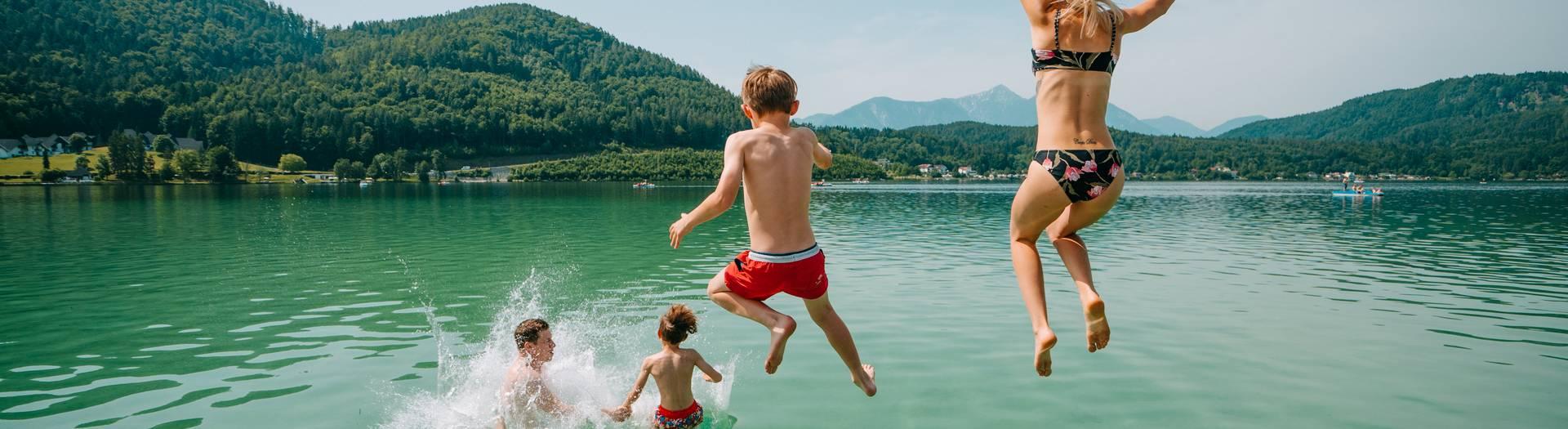 Baden in der Region Klopeiner See