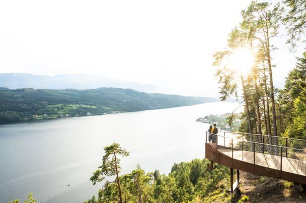Slow Trail Zwergsee mit Blick auf den Millstätter See