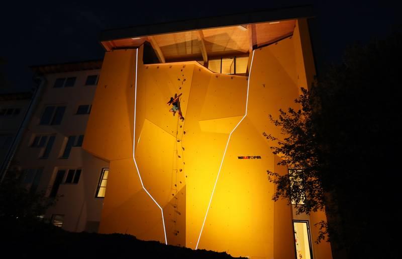 Aussenkletterwand Kletterhalle Villach Stefan Pohinig