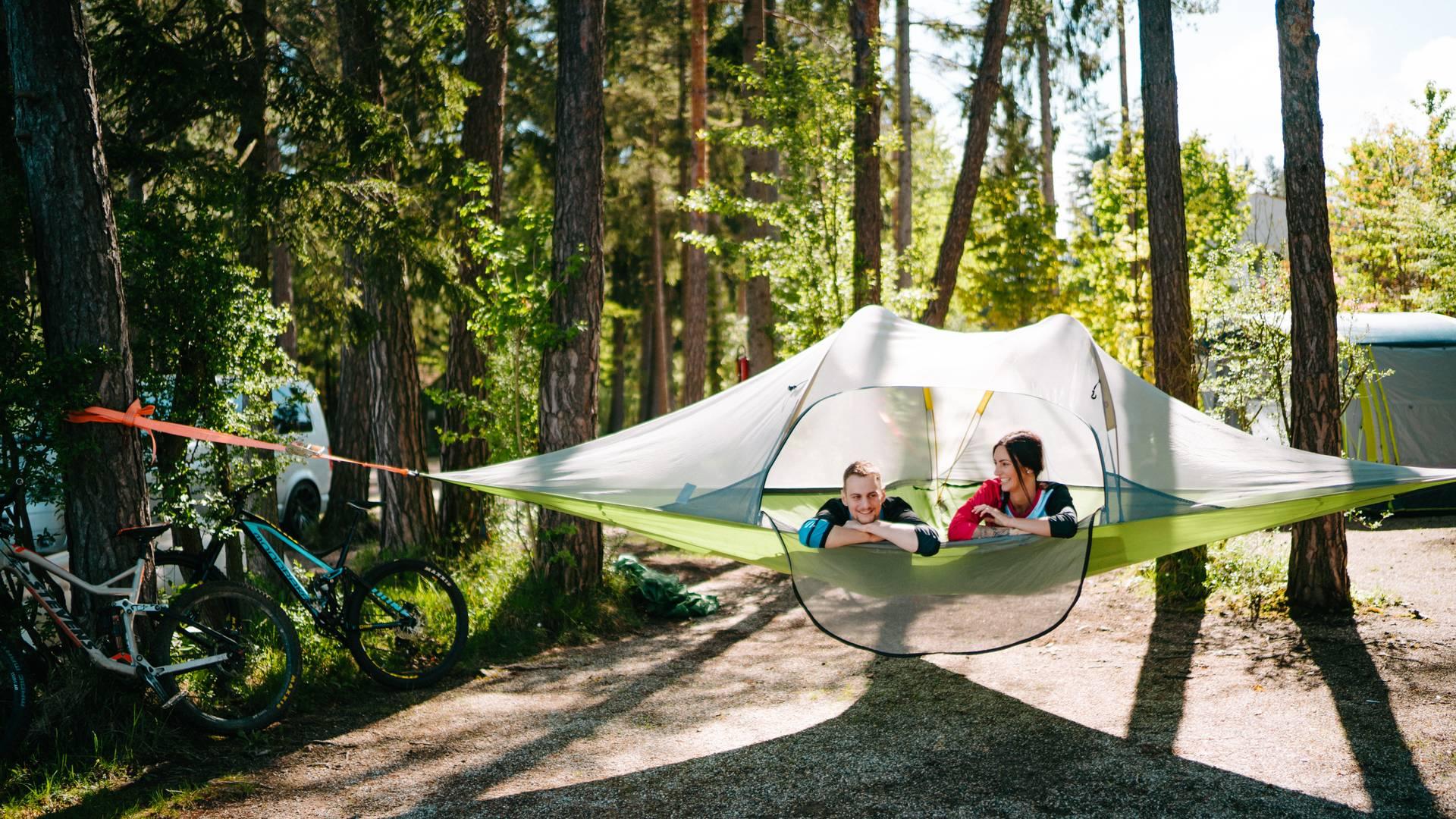 Camping Anderwald Basecamp Baumzelt