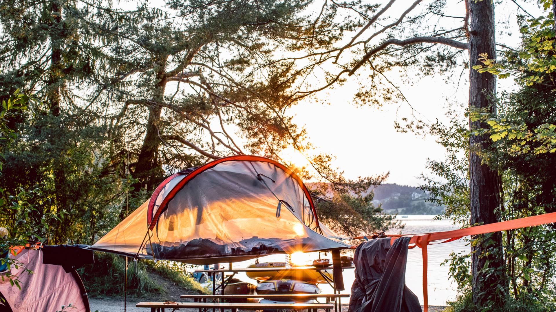 Camping Anderwald Baumzelt