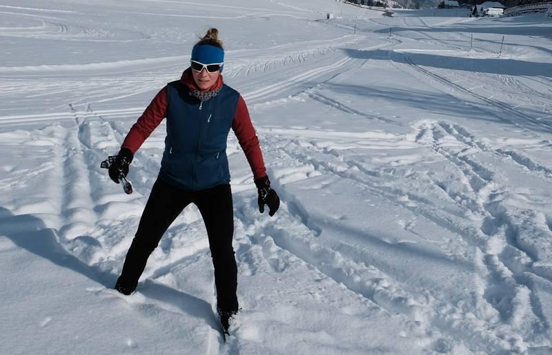 Langlaufen in Zell-Pfarre mit Sabrina Schuett