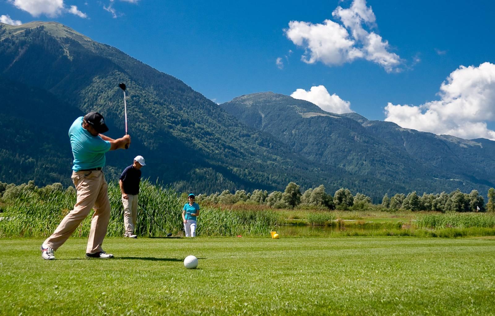 Golfen im Gailtal beim Waidegger Wirt