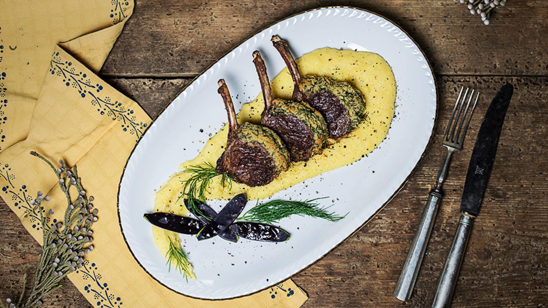 Lammkrone mit Cremepolenta von Cooking Catrin