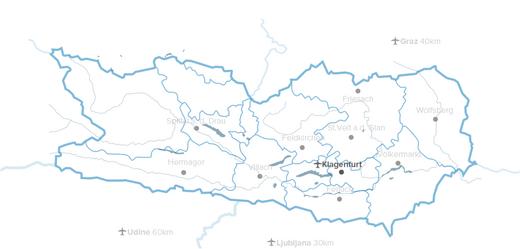 Kärnten Karte
