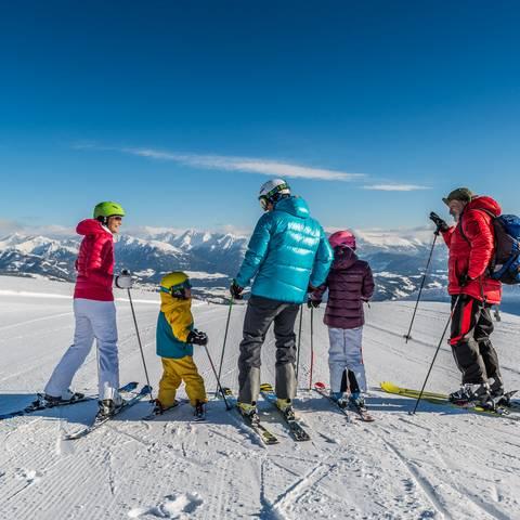 Katschberg_Familie Skifahren