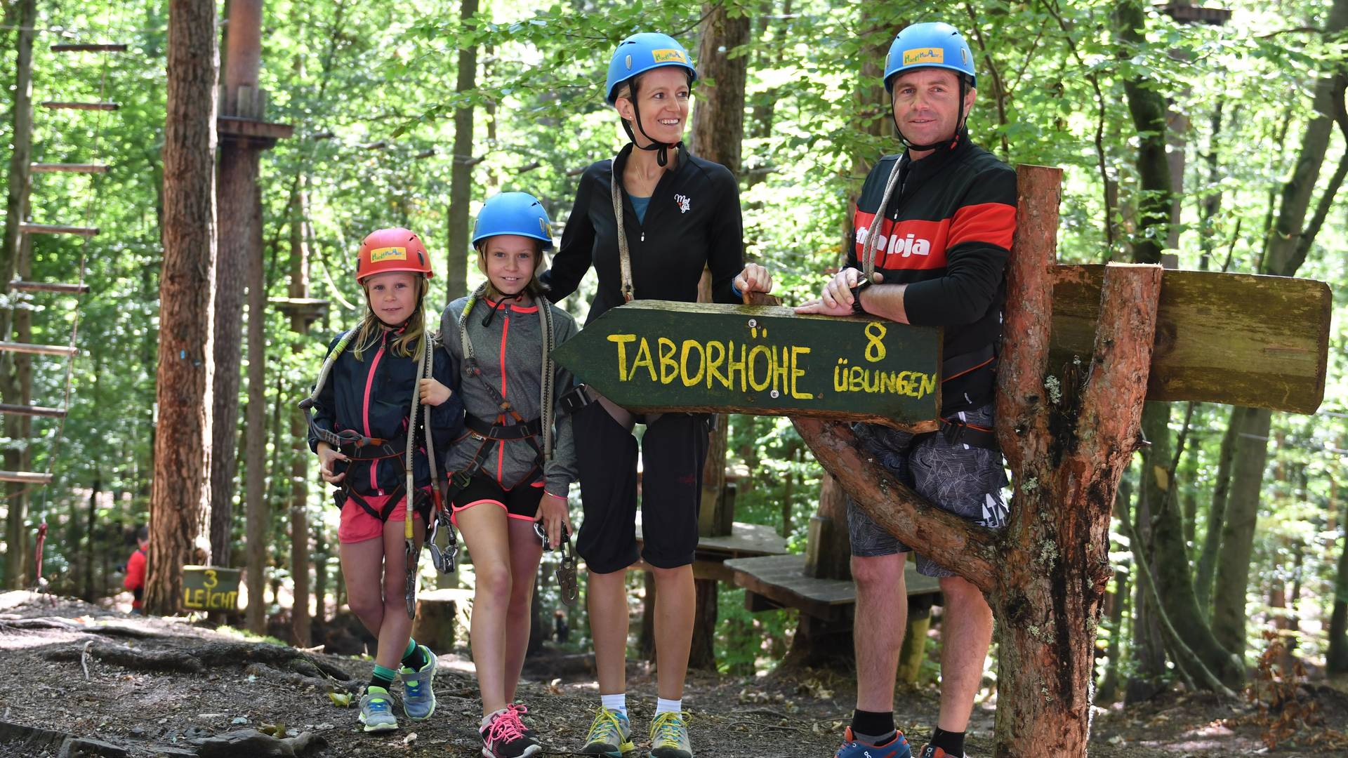 Waldseilpark Taborhoehe mit 9 Parcours